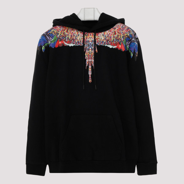 Black Multicolor Wings hooded sweatshirt
