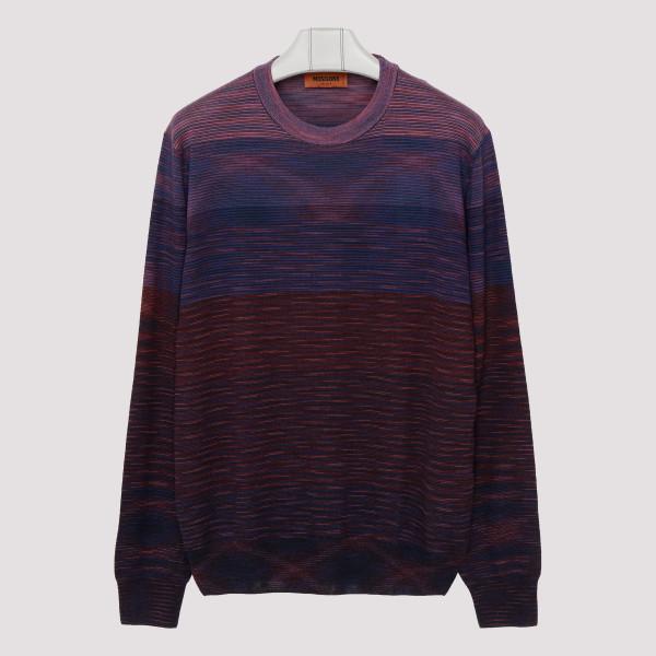 Gradient wool sweater