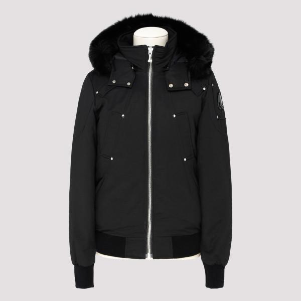 Ballistic black bomber jacket