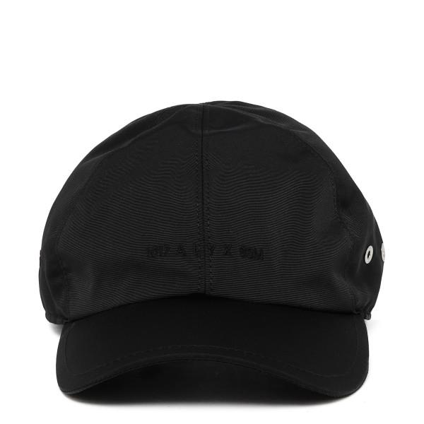 Black cotton-blend baseball cap