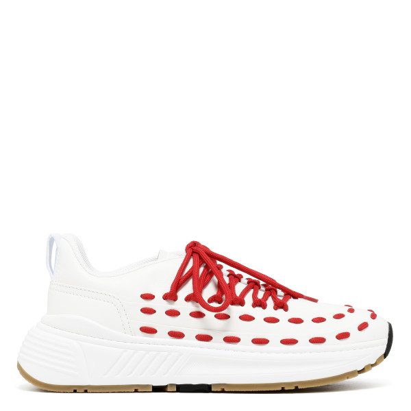 Speedster White and red sneakers