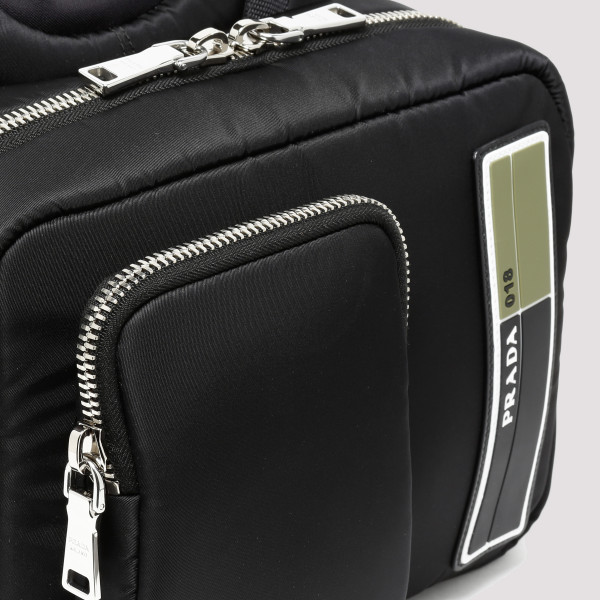 Black technical fabric backpack