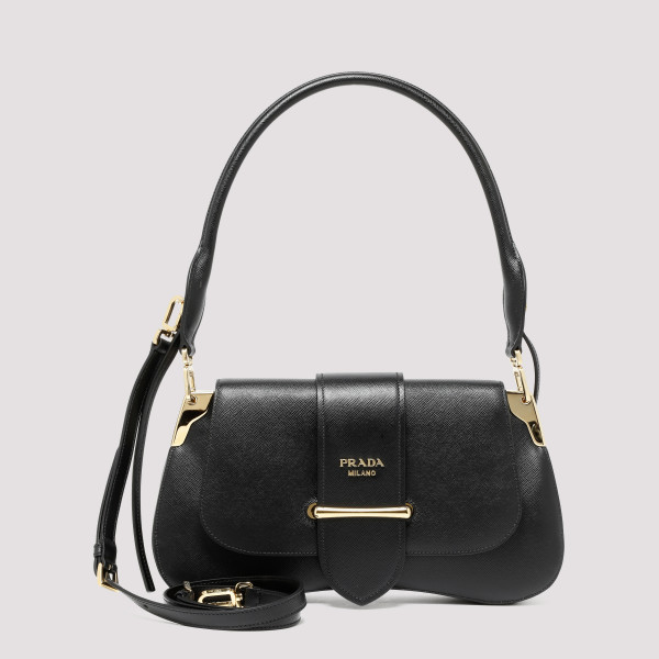 Prada SIDONIE BLACK SAFFIANO SHOULDER BAG