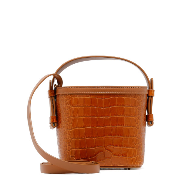 Brown printed croco Adenia mini bag