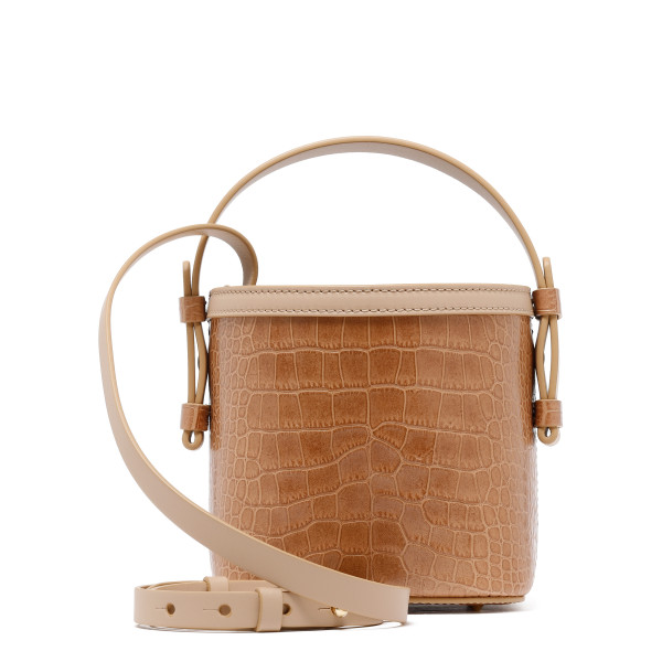 Beige printed croco Adenia mini bag
