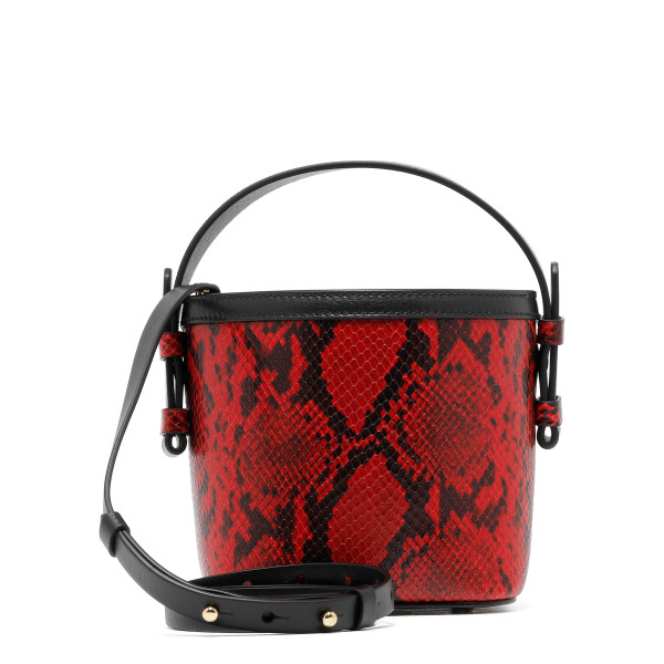 Black and red printed python Adenia mini bag