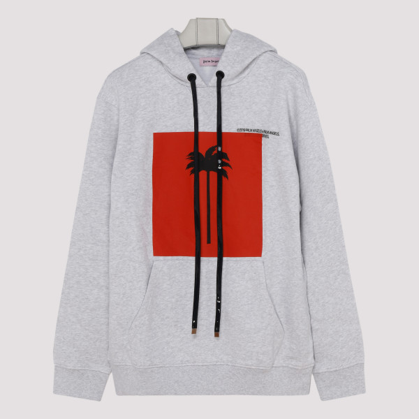 Grey cotton palm hoodie