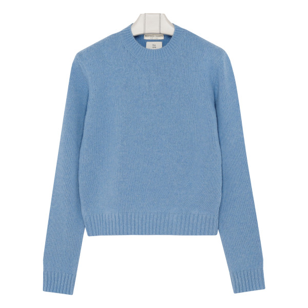 Ice blue brushed wool sweater
