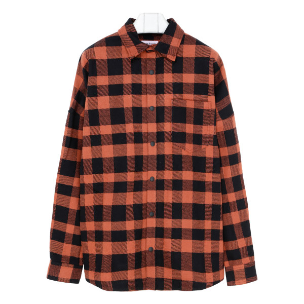 Red and black checkered shirt
