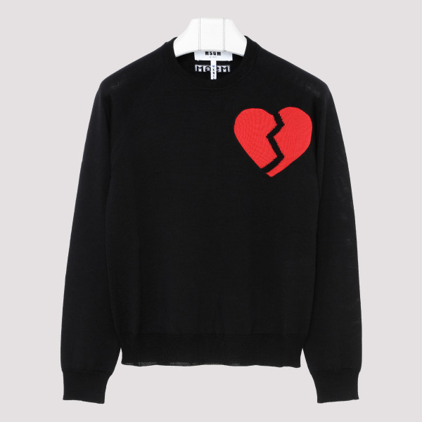 Broken heart sweater