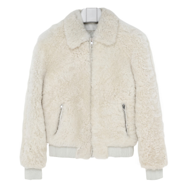Salvia white shearling jacket