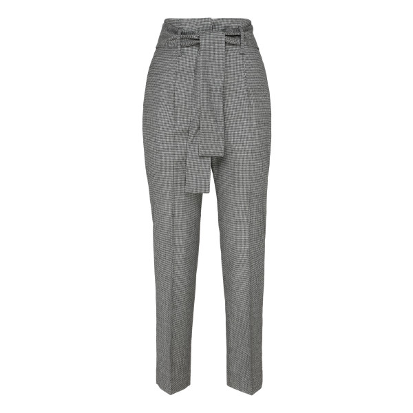 Houndstooth virgin wool pants