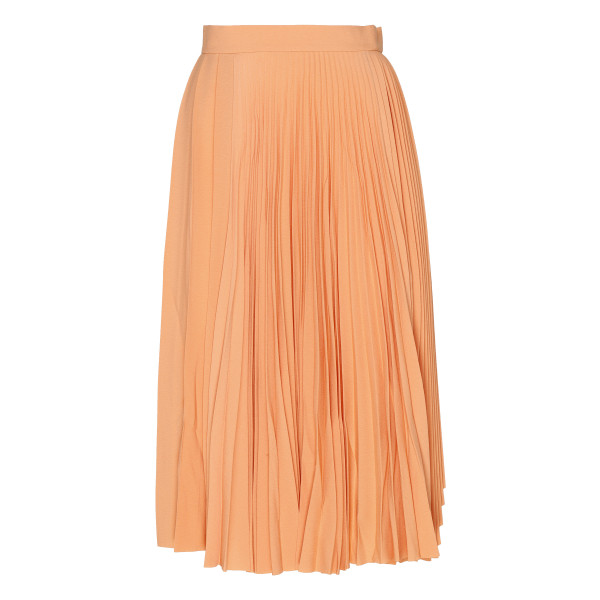 Dusty orange pleated skirt