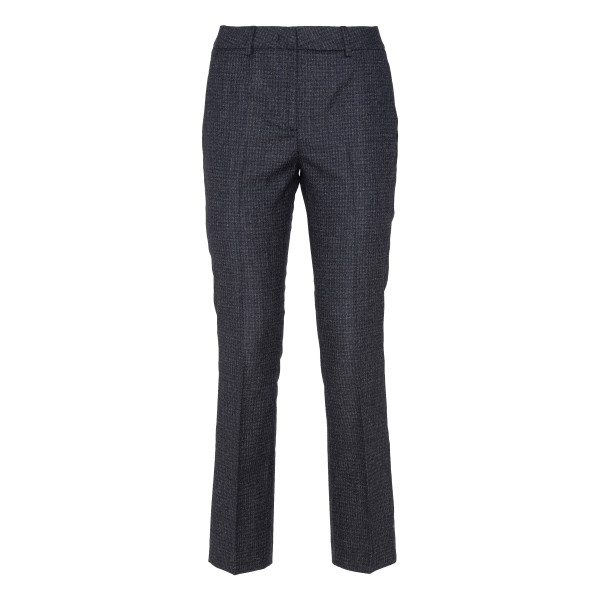Wool flannel check pants