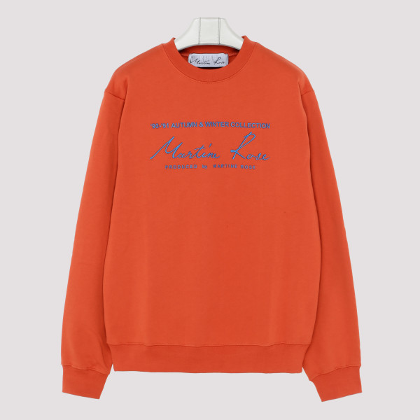 Orange sweatshirt with logo