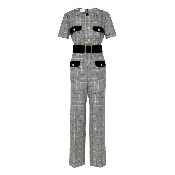 Prince of Wales wool jumpsuit
