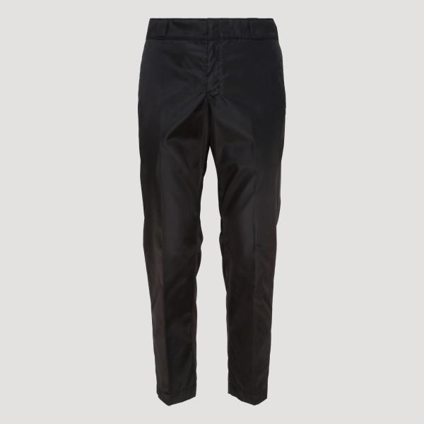 Black nylon gabardine pants