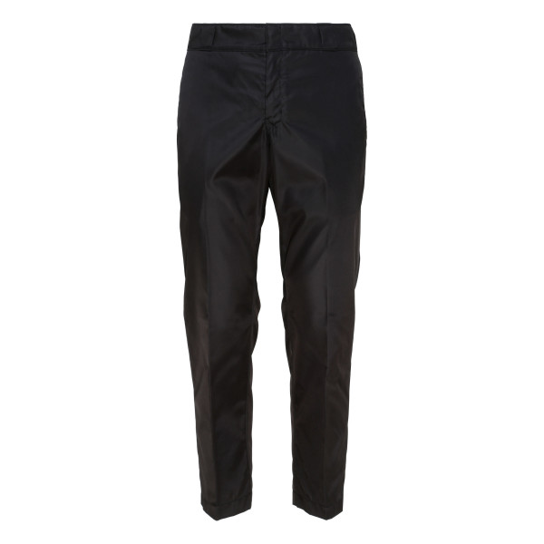 Black nylon gabardine pants