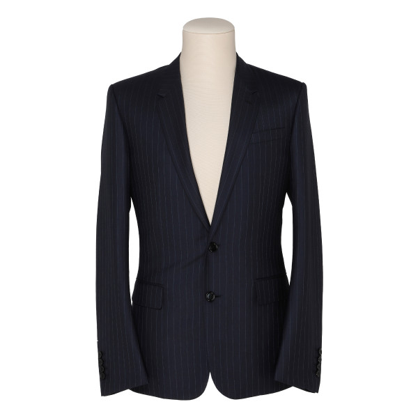 Blue wool pinstripe jacket
