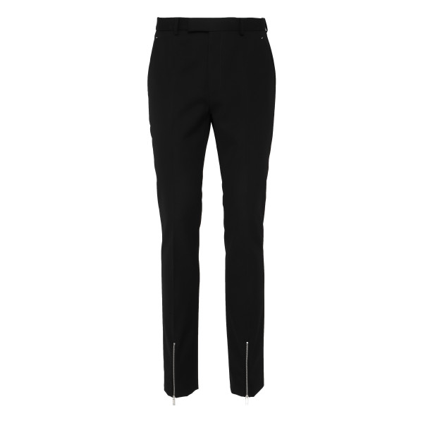 Black wool pants