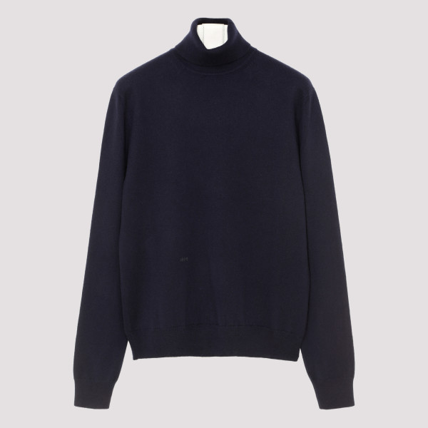 Blue cashmere turtleneck...