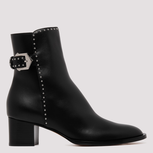 Black studded boots
