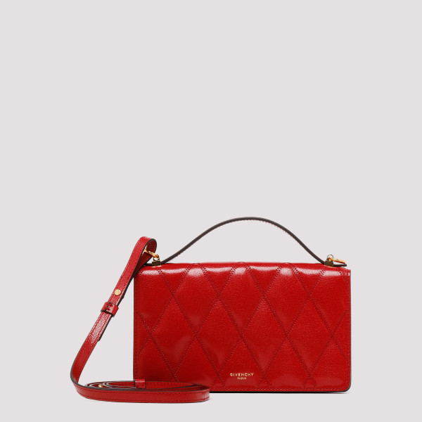 Red diamond quilted leather...