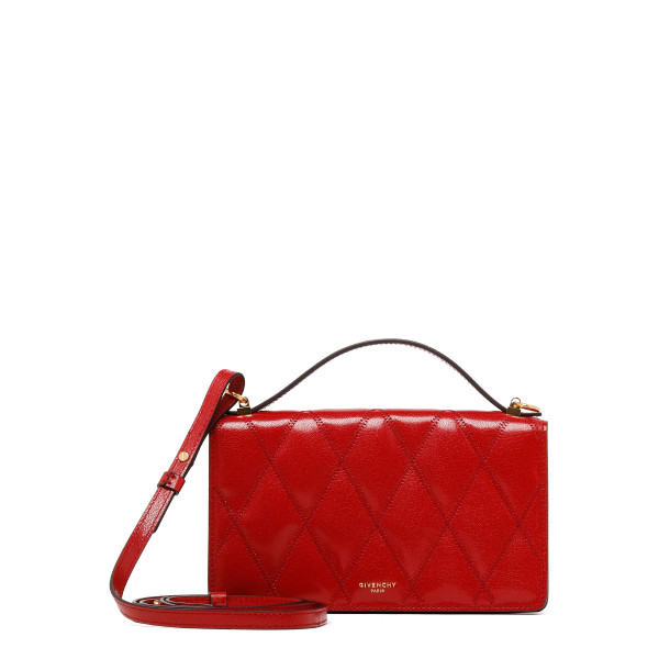 Red diamond quilted leather GV3 mini bag