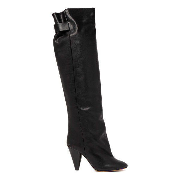 Lacine over-the-knee black boots