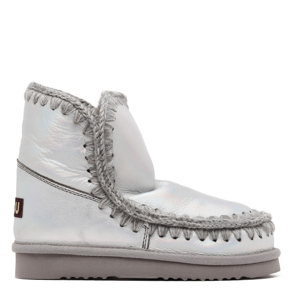 Eskimo 18 iridescent gray booties