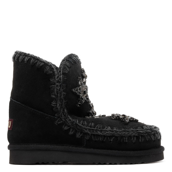Eskimo 18 black booties with crystal stars