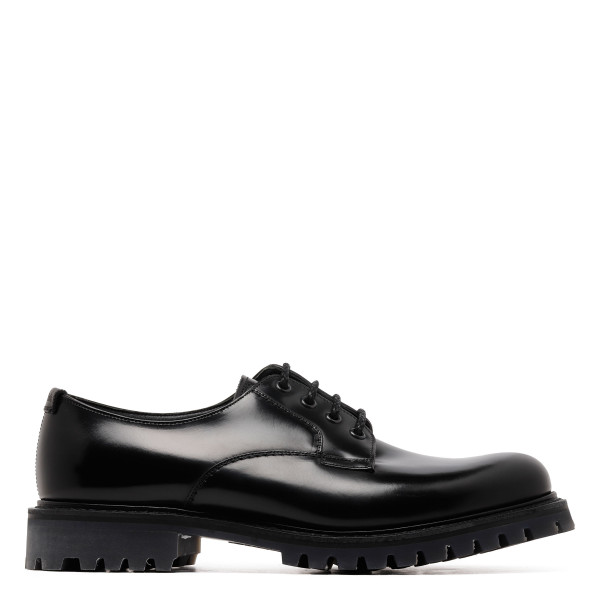 Black Derby Chester lace-up shoes