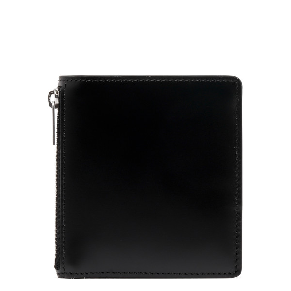 Black leather zipped wallet