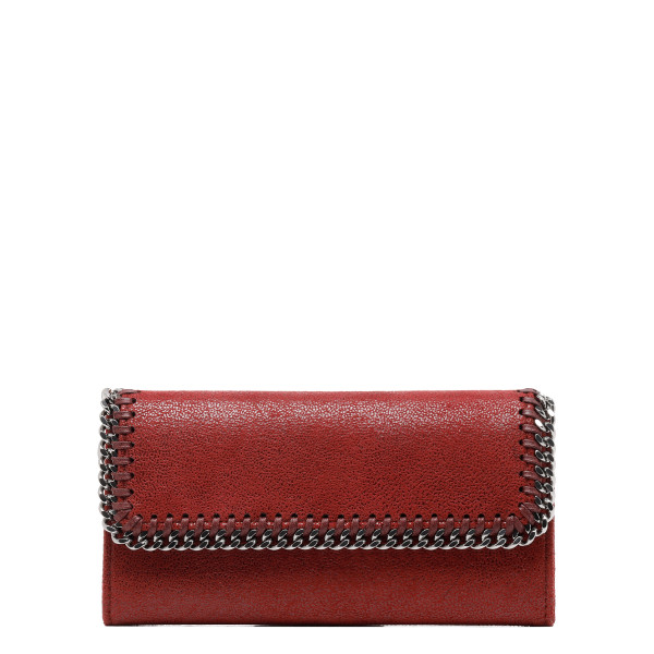 Red Falabella flap continental wallet