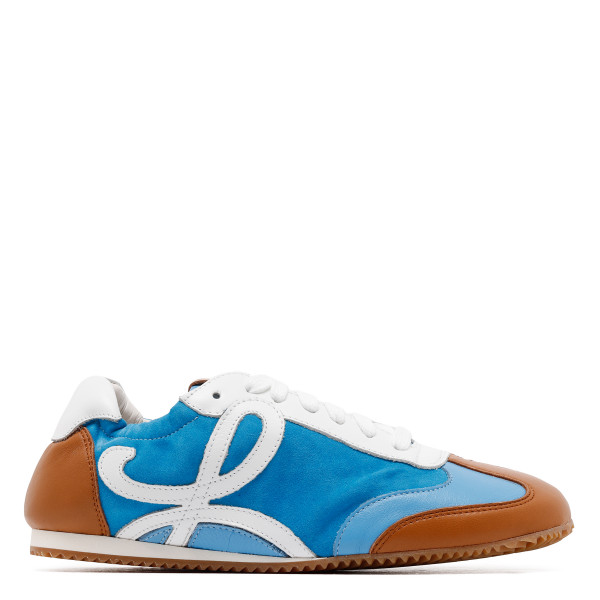 Blue and white anagram sneakers