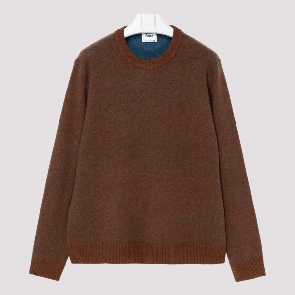 Brown and blue cashmere...