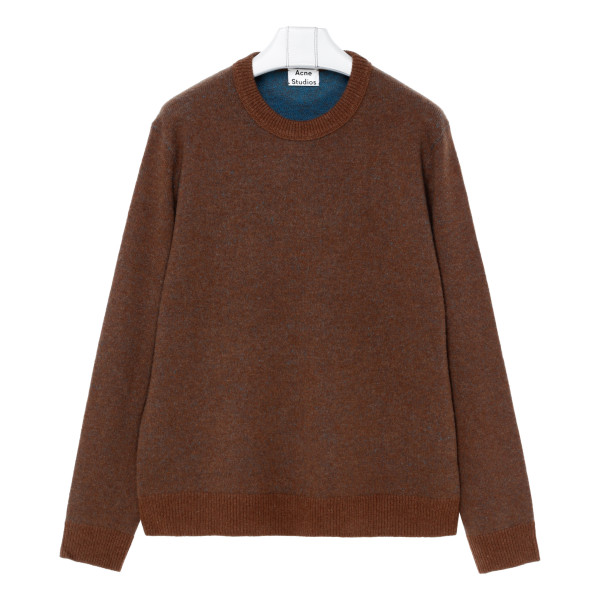 Brown and blue cashmere sweater