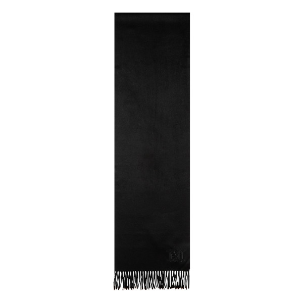 Black Wool Fringe Scarf
