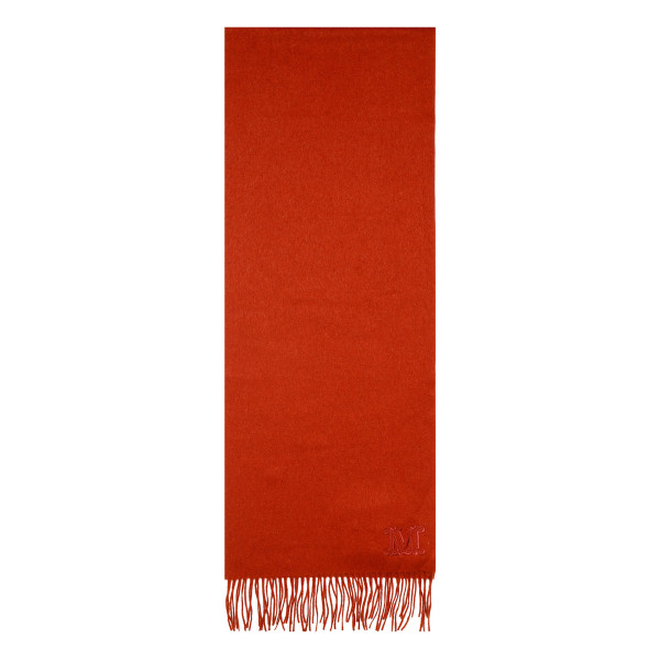 Red Wool Fringe Scarf