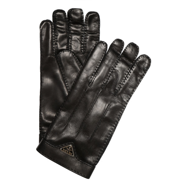 Black stitched gloves