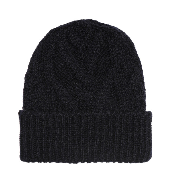Blue navy Aran Cable Hat