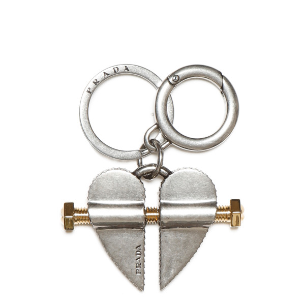 Split heart keyring
