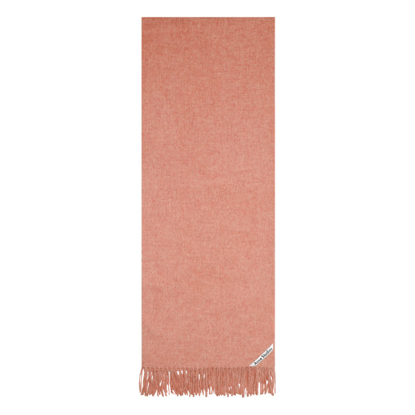 Melange rose wool scarf