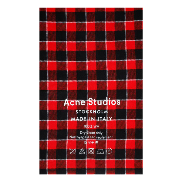 Red and black check scarf