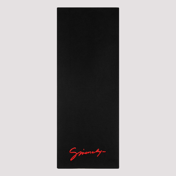 Black signature scarf