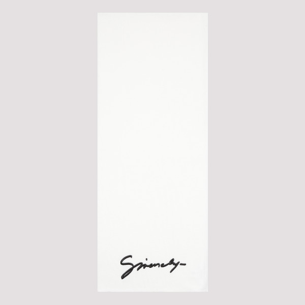 Signature white scarf