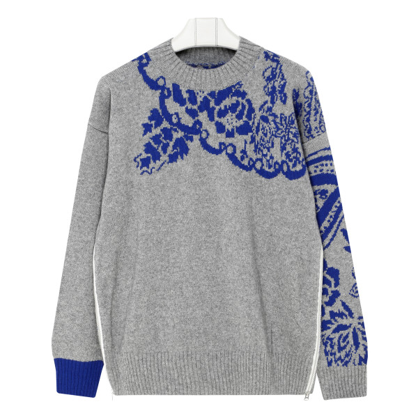 Floral wool-blend sweater