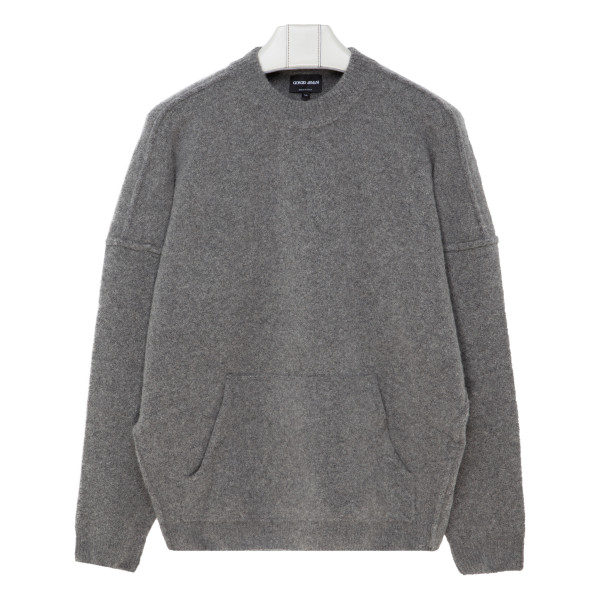 Gray cashmere and silk blend sweater