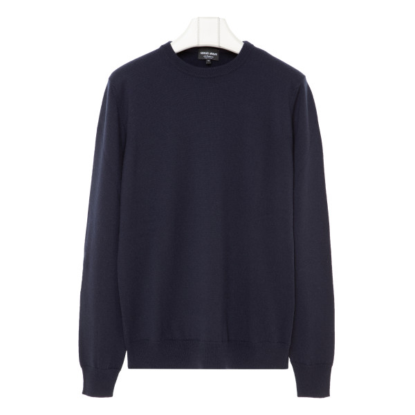 Navy cashmere classic pullover