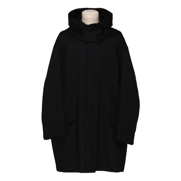 Black oversize parka jacket
